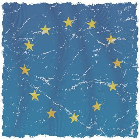 Grunge European Union Flag photo