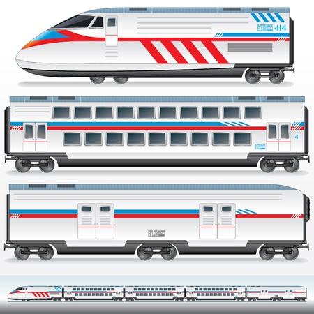 Snelle Lokomotive met wagens