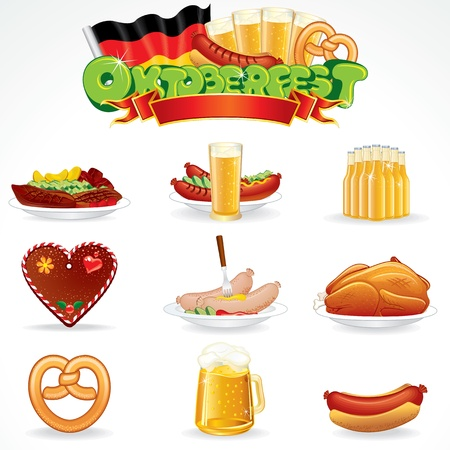Oktoberfest Food and Drink Icons  Clip Art photo