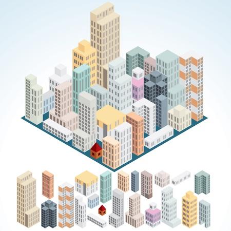 Einfach isometrische Gebäude