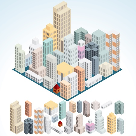 high rise buildings: Simply Isometric Buildings