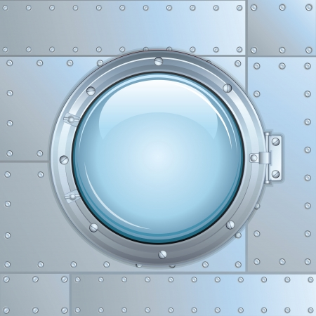 round window: Illustration of Rocket Window or Ship Porthole  Stock Photo