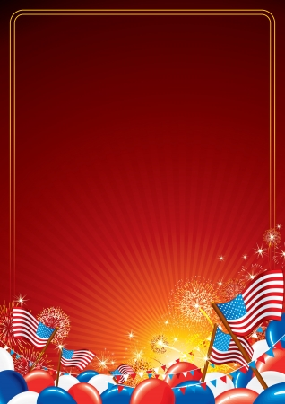 fireworks show: American Celebration Vector Background