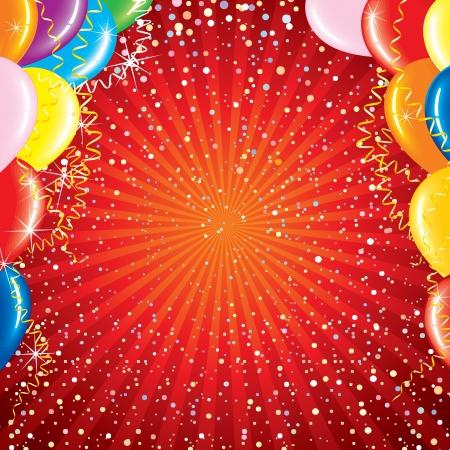 1st birthday: Bright Celebrating Background Stock Photo