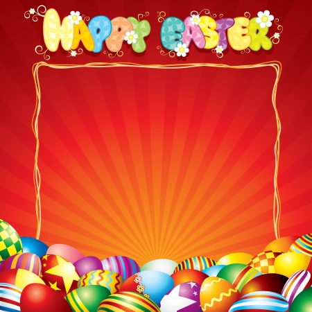 Festive Easter Card Template Stock Photo - 20043202