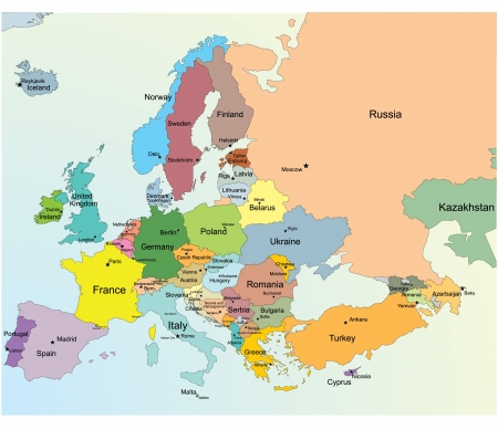 map europe: Mappa europea