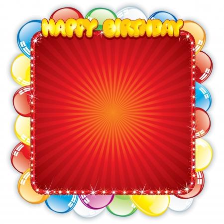first birthday: Happy Birthday Card  Festive Template