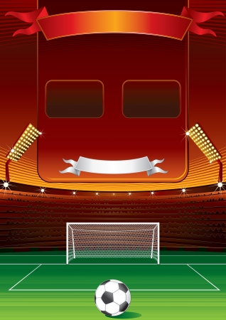 soccer stadium crowd: Football Scoreboard
