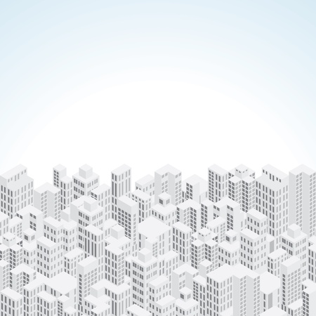 high society: Abstract City Vector Background Illustration