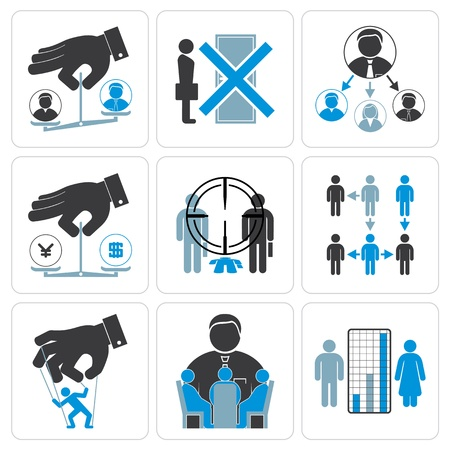 puppeteer: Financial, Management and Business Vector Icons