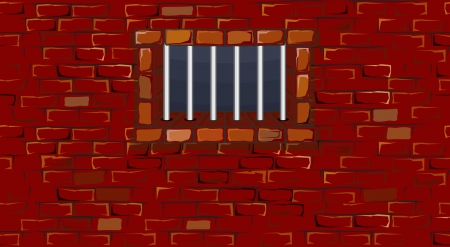 bric: Seamless Prison Wall with Cell Window Stock Photo