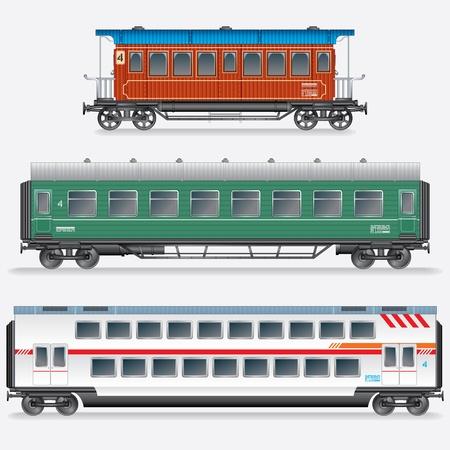 treno espresso: Passeggero carro ferroviario, Railroad Passenger Car