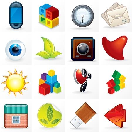 Different Design Symbols, Logos and Emblems Stock Photo - 20043411