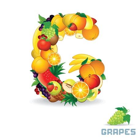Alphabet From Fruit  Letter G photo