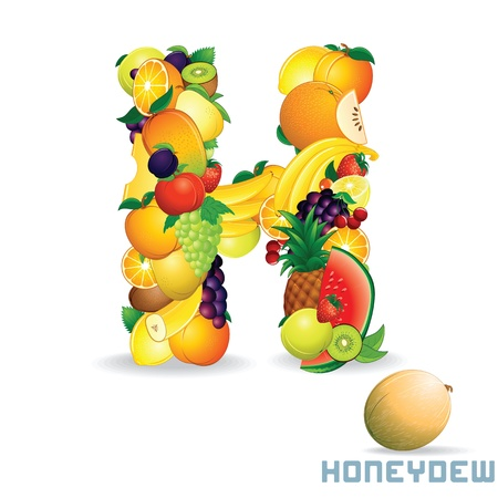 Alphabet From Fruit  Letter H photo