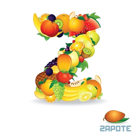 Alphabet From Fruit  Letter Z photo
