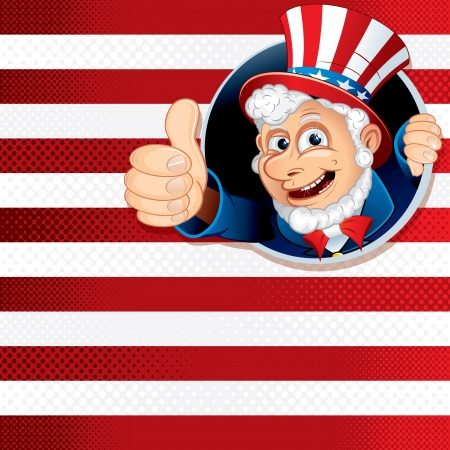 Uncle Sam Thumb Up photo