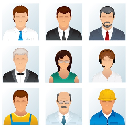 Collection of People Occupations Icons photo