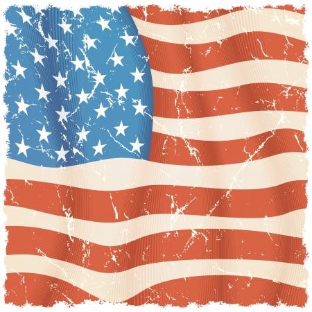 USA Flag Background  Grunge Illustration illustration