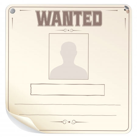 fugitive: Blank Wanted Poster