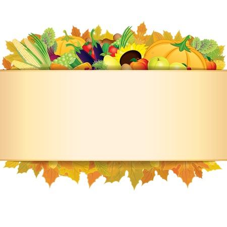 Retro Thanksgiving-Hintergrund. Illustration