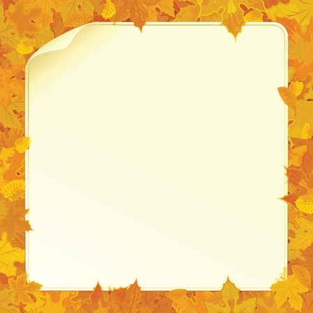 fall leaves border: Vector Autumn Background