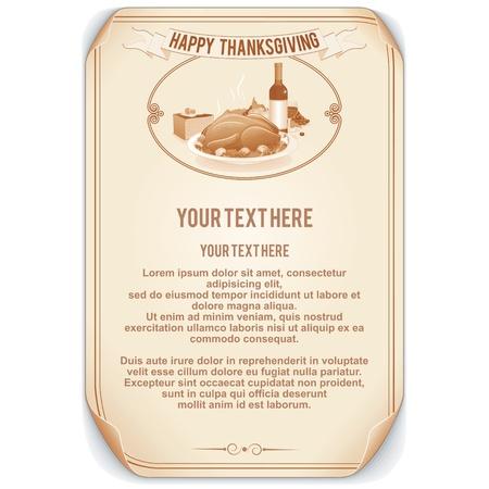Retro Stijl Thanksgiving Achtergrond