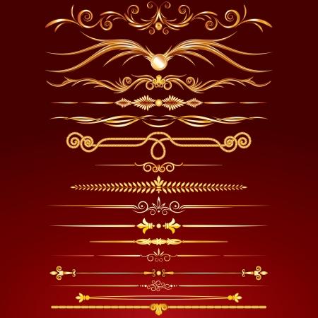 golden rule: Collection of Golden Rule Lines. Vector Design Elements, Ornaments.