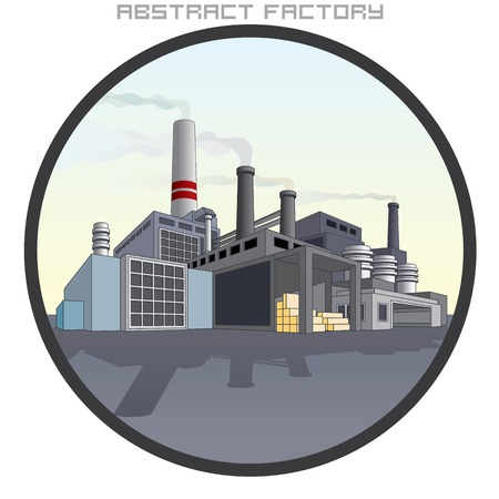 food industry: Illustration of Abstract Factory. Illustration