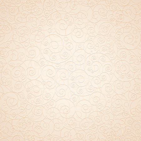 Decorative Ornamental Beige Background. Ready for Your Text and Design. Vector