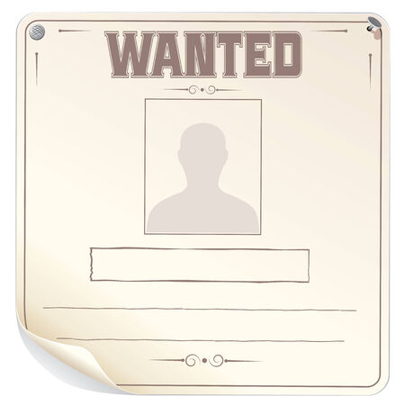 western border: Blank Wanted Poster