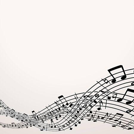 pentagrama musical: Fondo musical. Imagen con espacio libre