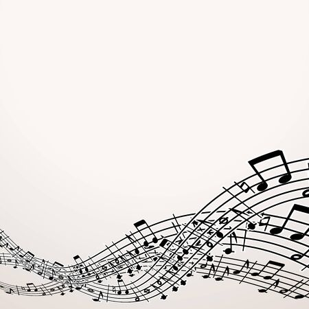 composer: Musical Background. Image with Free Space Stock Photo