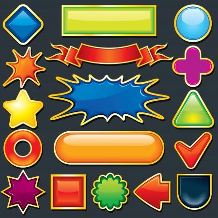 Colorful Design Element. Icon, Button Template photo