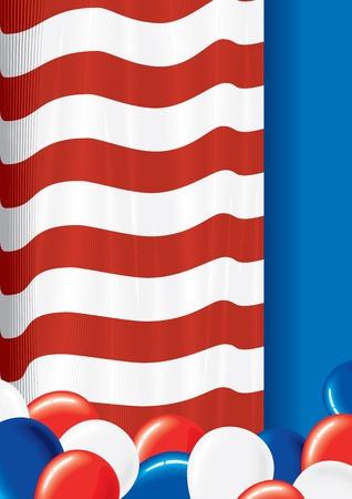 patriotic america: USA Flag Theme Stock Photo