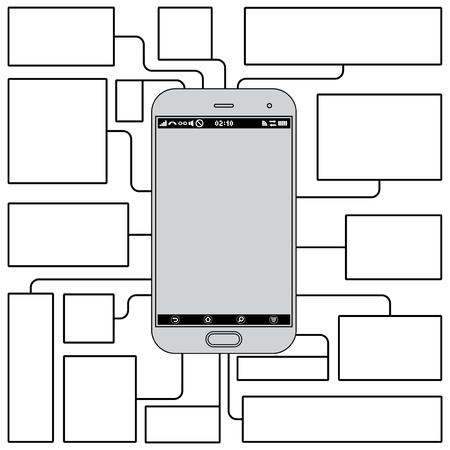 Touchscreen Phone Features. Blank Template photo