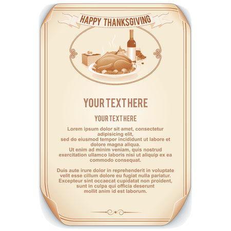 Retro Style Thanksgiving Background photo