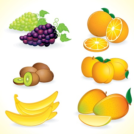 tropical fruits: Ripe Juicy Tropical Fruits