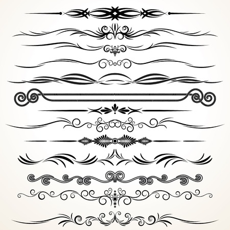 border line: Design Elements. Ornamental Rule Lines Stock Photo