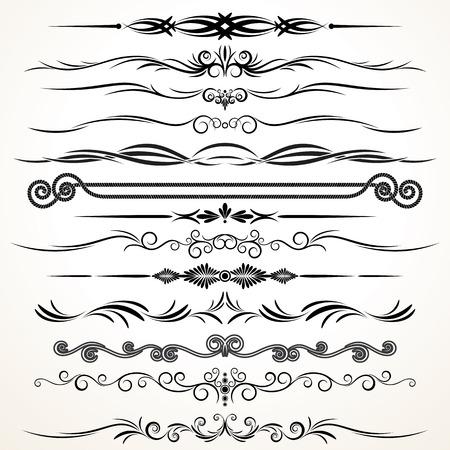 embellishments: Design Elements. Ornamental Rule Lines Stock Photo