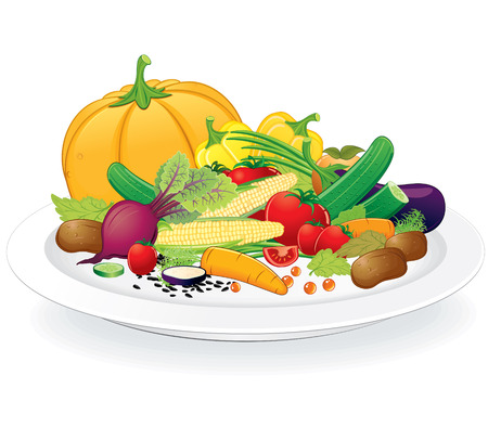 Plate with Vegetables photo
