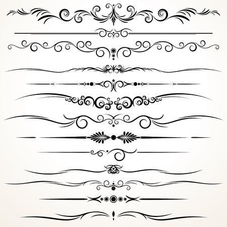 Sammlung von Zier-Rule Linien in verschiedenen Design-Stile Standard-Bild - 22958617