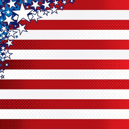 free vote: Stylized US Flag