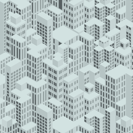 Modern City Downtown. Isometric Pattern. Illustration illustration