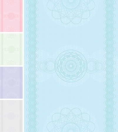 bond: Background Template for Certificate or Diploma. Illustration