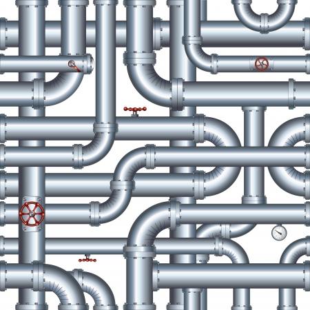 conduit: Isolated Seamless Pipeline. Vector Illustration Illustration