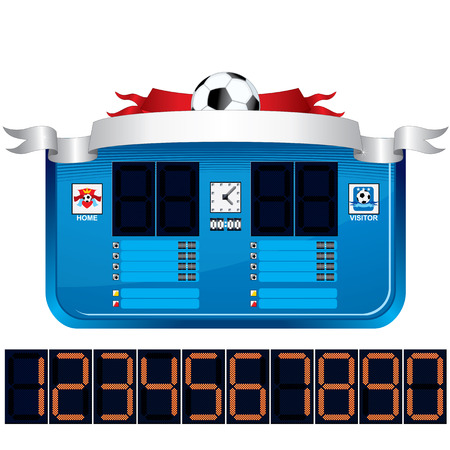 scoreboard: Soccer Scoreboard. Vector Ready for Your Text and Design. Illustration