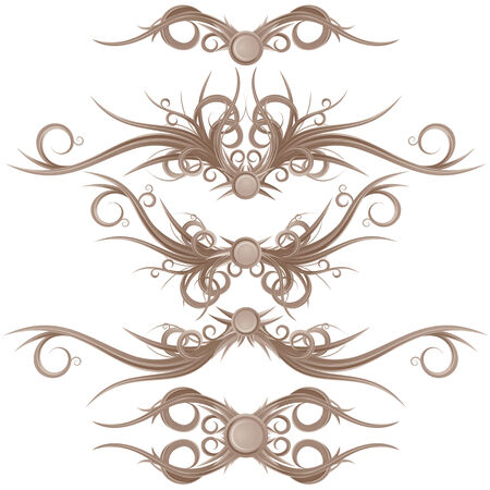 gothic design: Gothic Borders and Design Elements. Vector Ready for Your Design. Illustration