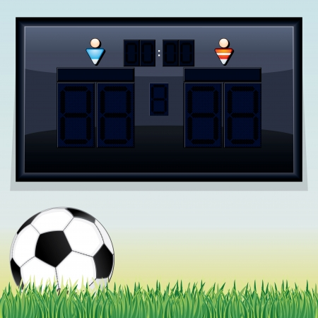 Soccer Scoreboard Display. Vector Template with Space for Your Text and Design. Vector