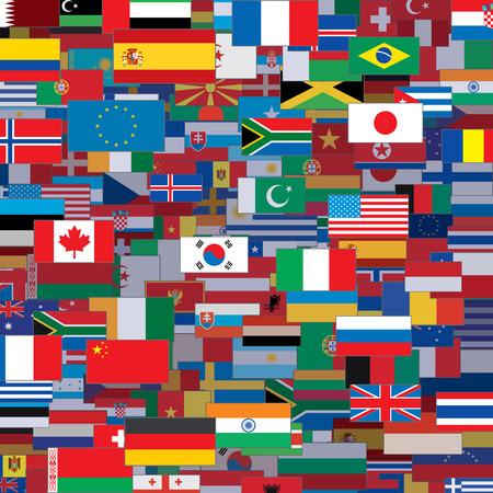 Achtergrond Gemaakt van World Flags. Vector Template